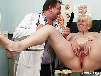 Chubby blondie gets her giant meat hammer in her hairy pussy is fucked by mustached brunette