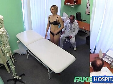 Naked blonde hospital nurse passion fuck with care