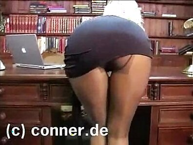 Big office feet worship with pantyhose