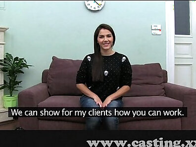 Beautiful babe fucked on casting interview