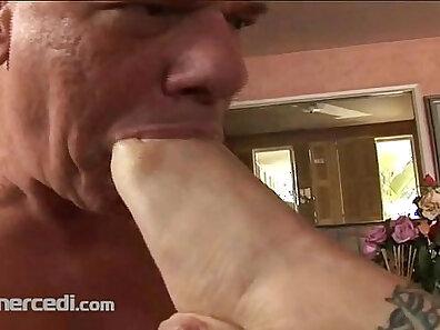 Mature Blonde Foot Fetish Slut Fucked With Huge Penises