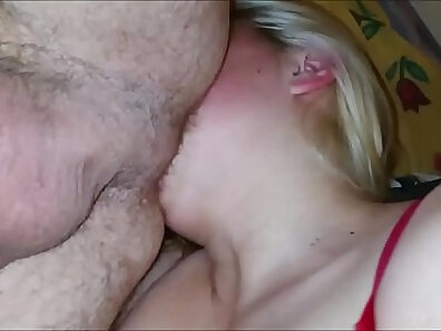 Blonde rimming chubby bear and cumshoot