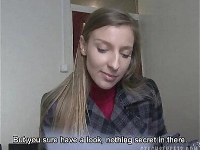 Damn sexy Czech girl gives great handjob before fucking