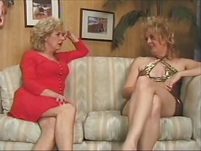 Brunette lesbians Vanessa EVE and Wanda Page have a lot fun
