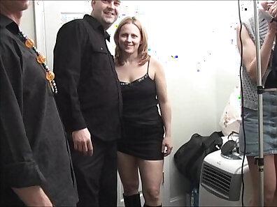 Chubby Redhead MILF Masturbates and Threesome