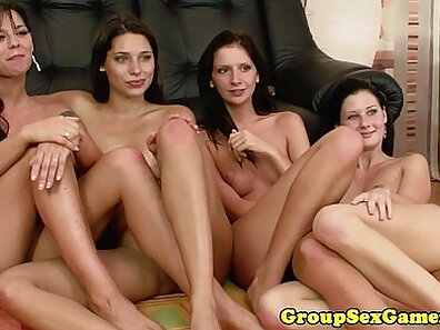 cool and sexy lesbian sex group shooting cunnilingus at the office