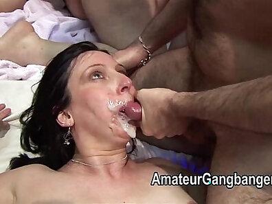 Amazing mature facial cumshot