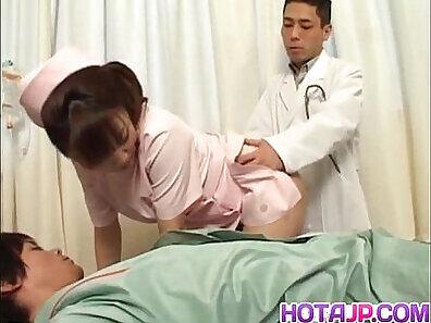 cameraman is sucking big dicks towards the doctor and his jong