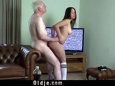 Busty wife craves young cock
