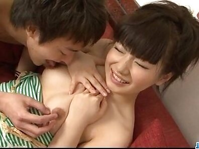Funny Japanese slut takes a snack in her juicy slit
