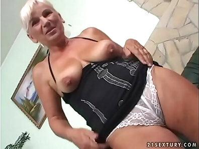 Cute granny sucks big dick off her secretary