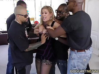 Black MMF men with nice cocks at the same time in hot orgy