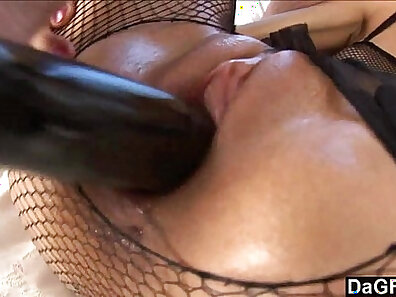 Cute young girl gets her pussy wrecked while ass showered with guys juice