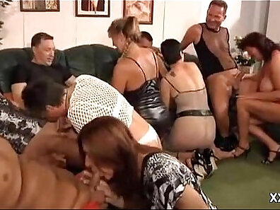 Hot MILFs Get Gangbanged At House Party