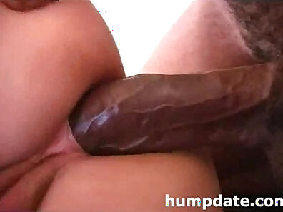 Horny wife with nice round ass teased sucks on large black cock