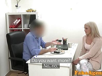 Blonde Model Sucks Fucks Cocks