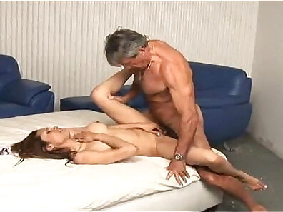 Hot young chick seducing a daddy
