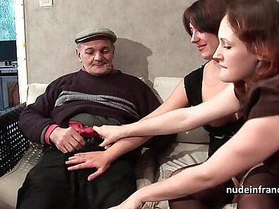 Brunette deepthroats strangers cock in voyeur video