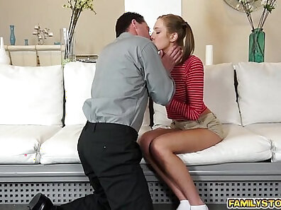 MILF records pussy and balls for her step dad