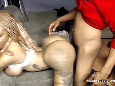 Black girl fucks filled up ass doggystyle