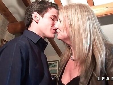 Mature wife casting her son