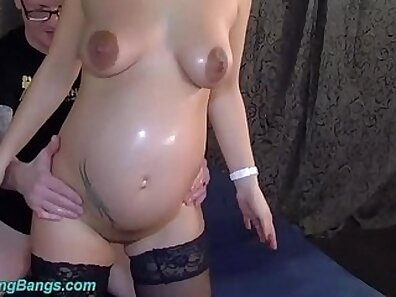 Teen gets pregnant in POV gangbang and sexy dirty fucking