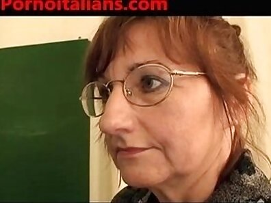 Brownheaded bitch with nice tits gets fucked from behind by Italian guy