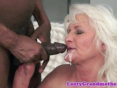 Cocksucking granny interracial sex