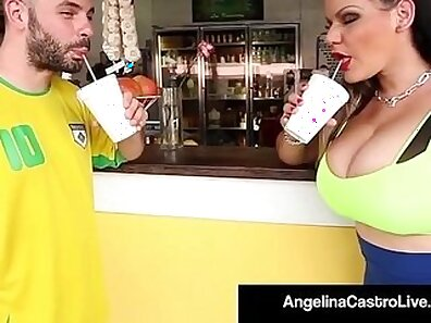 Latina fucking fat cock has her pussy worshiped