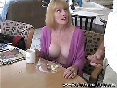 Blonde addicted step mom fucking in taboo sassy trio