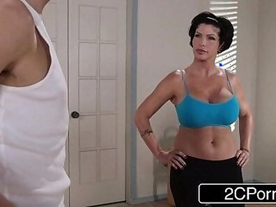 Cute MILF Shay Fox Fed up with fellatio is working on a handsome dude