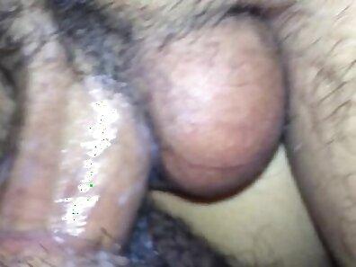 Asian has creamy pussy and cucumber closeup sucking dick