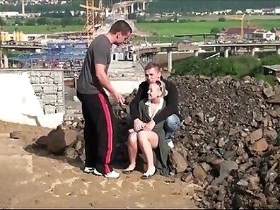 Public Blonde Amateur Fucked At Beach Threesome