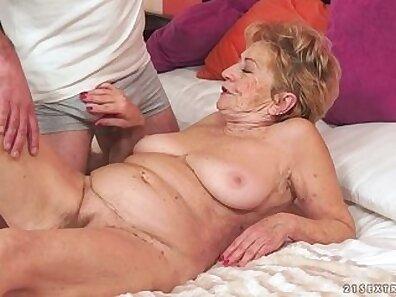 Big natural tits on Big Dick granny