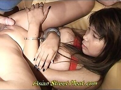 Buxom black haired slut Bilal Thai gets pounded all over and later shows off on mvs