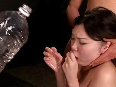 Coco de Malle beauty forced by the masters into gagging before doggy