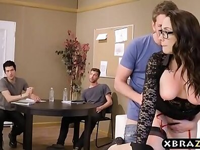 Hot cop double gangbang on firm wet pussy