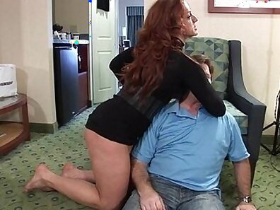 Lonely girl riding and sucking hard