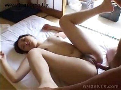 Bosomy Japanese slut gets fucked on camera