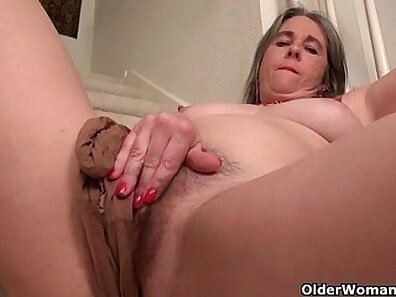 Camgirl Granny Fingering Her Tight Ass Hole