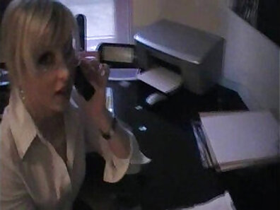 Big rack blonde and secretary sucking on the table