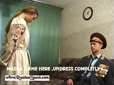 Spanking Russian Girl on Tight Brunette