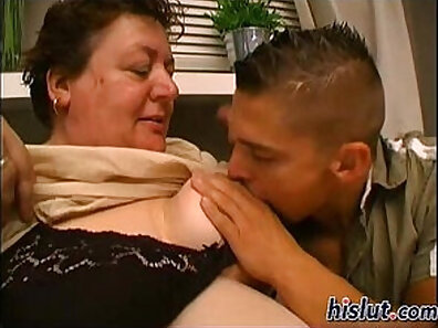 Angry granny slut using her young Boys friend