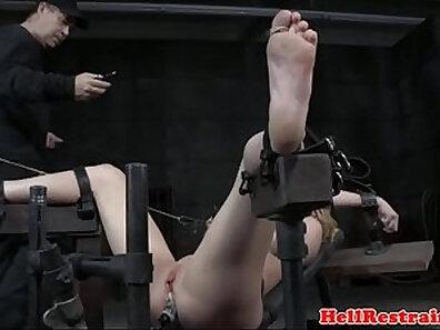 Busty teachers machine bondage