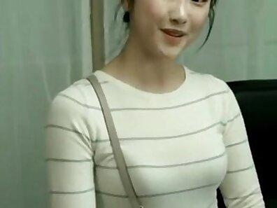 romantic korean girl wedding night that was done in hotel