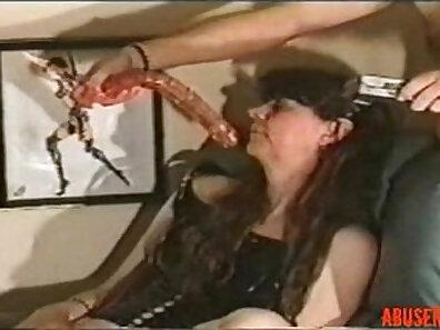 Another Callie Kay Deepthroat dive dildo action