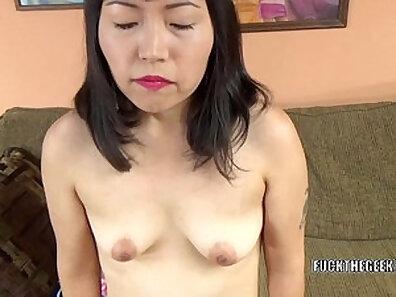 Asian chick anall fher hotel entertaining her slutty friends