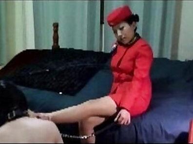 Asian Mistress Homework in Shower