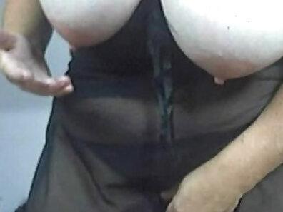 Big tits mature striptease on webcam