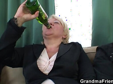 FuckHard Granny Gets Double Fucked